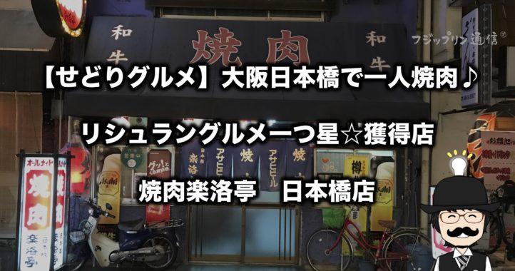【せどりグルメ】大阪日本橋で一人焼肉♪【リシュラン一つ星獲得店紹介】