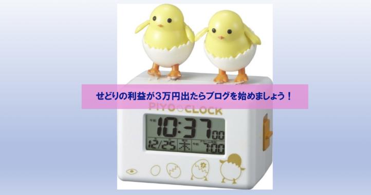 せどりの利益が3万円出たらブログを始めましょう!