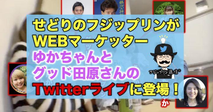 せどりのフジップリンがWEBマーケッターゆかちゃんとグッド田原さんのTwitterライブに登場!