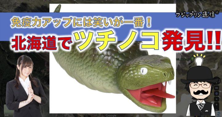免疫力アップには笑いが一番!北海道で「ツチノコ」発見のニュース!