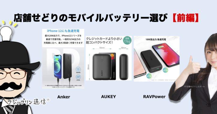 【前編】店舗せどりのモバイルバッテリー選び