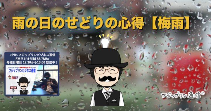 雨の日のせどりの心得【梅雨】