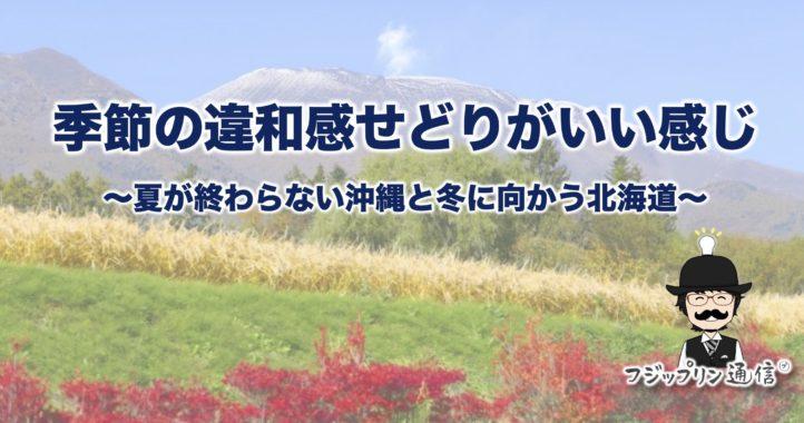 9月の今、季節の違和感せどりがいい感じ〜夏が終わらない沖縄と冬に向かう北海道〜
